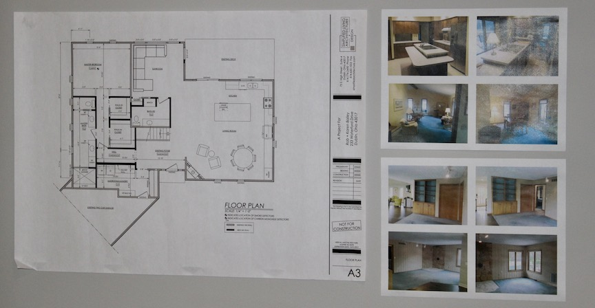 The floor plan from the Bailey's phased renovation project.
