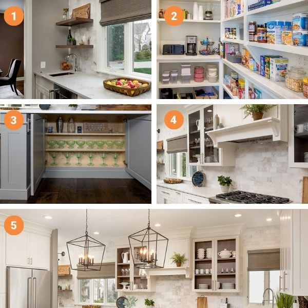Kitchen renovation collage of favorite features.