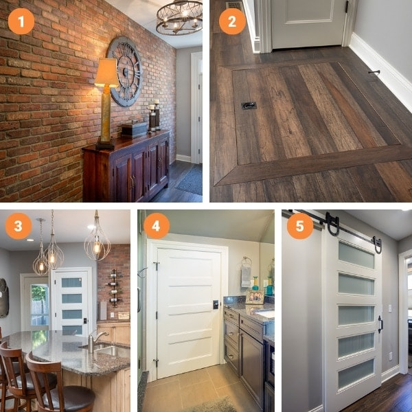 Whole House renovation collage of favorite features.